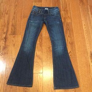 express rerock flare leg jean size 0